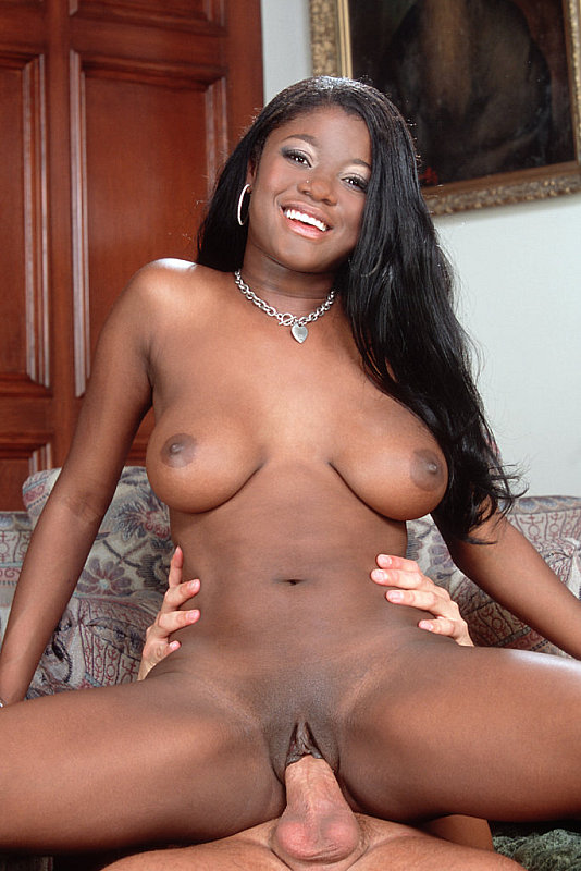 Ebony want white dick creampie