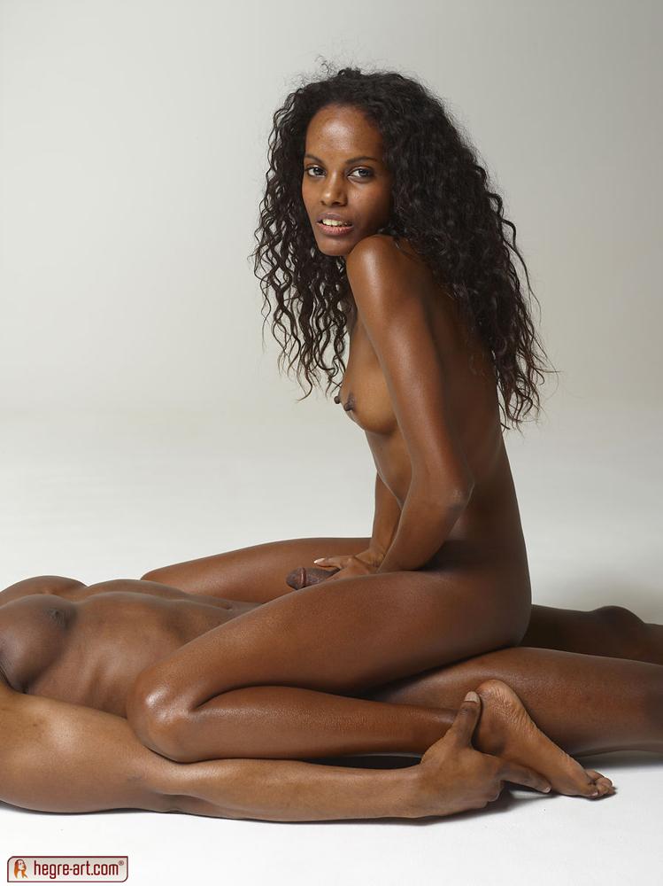 Interracial art erotic hegre blowjob massage